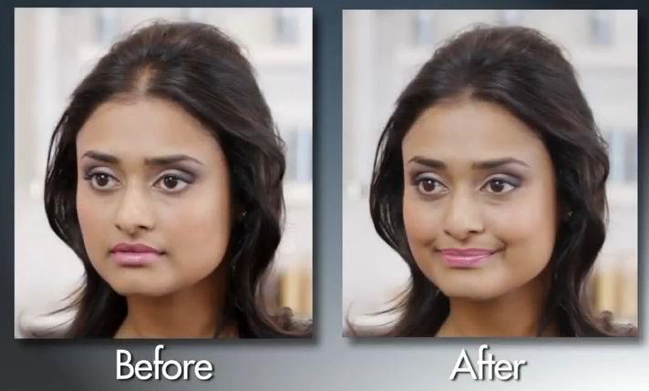 XFusion Haarverdichtungsfasern im Test - weiblicher Proband. Vorher-Nachher-Vergleich.